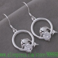 AE579 925 sterling silver earrings , 925 silver fashion jewelry , fish Diving ring /bewajwda ghyaozfa