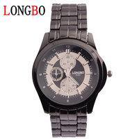 LONGBO 8344 Boutique Waterproof Watch  quartz watch GENEVA Steel belt