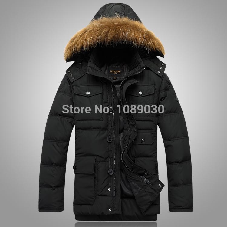 2017 Medium Long New Style Winter Jackets For Men Splice Wool