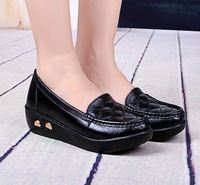 2014 Fall new women genuine leather shoes, women's singles shoes shook his shoes, middle-aged mother shoes, free shipping