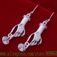 AE590 925 sterling silver earrings , 925 silver fashion jewelry ,  hand inlaid stone /bfhajwoa gijaozqa