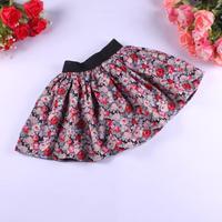 1 PCS New 2014 Casual Korean Style Flowers tutu skirts girls  Children short pettiskirt Cotton  Kids skirt  3~11 years DA029