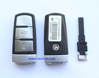 VW Magotan 3 button smart remote key control 433mhz with ID48 chip