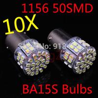 2014 new 10x car led s25 ba15s 1156 p21W 50 led smd 50smd Turn light bulb lamp xenon WHITE Free shipping