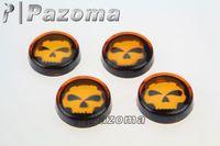 Pazoma Smoke Turn Signal Indicator Light Lens Bike Blinker Skull Style Lenses kit 4 pcs
