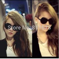 The new 5022 sunglasses ladies round box curved foot sunglasses Fashion lady black sunglasses glasses