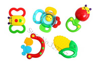 Infant Teether Baby Rattle Ring Bell Baby Toys Animal Fruit Shape Bee Butterfly Corn Mouse Baby Dental Care Teethers Rattles