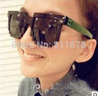 The sun glasses box 107 Mosaic han edition retro sunglasses