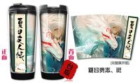 New Japanese Anime Cartoon Natsume Yuujinchou Double Heat insulation Eco-Friendly Water Cup Glass No.200356