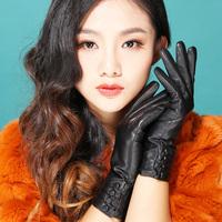 Women's gloves winter leather gloves female genuine leather gloves women's sheepskin thermal gloves
