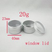 20g cosmetic aluminum containers  20ml disposable aluminum container cosmetic packaging  jar 20g with window cap  bottles