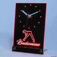 tnc0486 Budweiser Exotic Dancer Stripper Table Desk 3D LED Clock