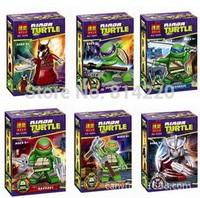 wholesale bela10200-10205 turtle toy minifigures ninjago with weapon skateboard generation building blocks kids toy