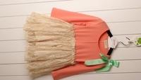 New High Quality Children Shoulder Bow Lace Dresses , Princess Elegant Clothes Wholesale 5 pcs/lot, Free Shipping