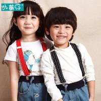 Via Fedex IP,  Kids Stripe Suspenders Adjustable Y-back Braces Clip-on Elastic Suspender Children Belt Baby Straps, 300PCS