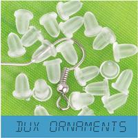 Rubber Earring Back fittings jewelry free shipping! 5mm x 4mm wholesale rubber earring backs stoppers ear post nuts