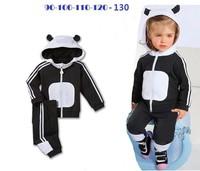 Retail 2014 new arrive panda designer low price children clothing set children 2 pcs sport suit autumn cloth set brand AD