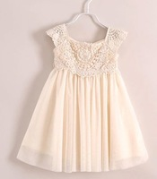 Hot sale  Summer Girls Princess lace flower dress 6pcs/lot