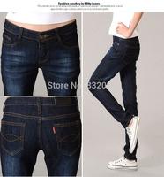 free shipping size 26-38 large sizes 3 colors 2014 ladies fashion cotton blue vintage denim jeans regular  fit jeans WLJ14005