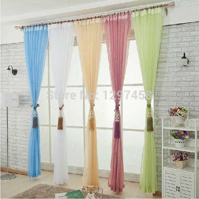 moderna cortinas sala varanda fio branco branco cortina cortina sala triagem 130*150cm frete grátis(China (Mainland))