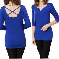 Women new fall fashion casual Slim long-sleeved T-shirt Women T shirt M / XL