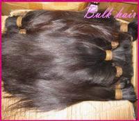 Wholesale bulk human hair for braiding 3pcs/lot (300g) VIRGIN Raw Malaysian hair No wefts Straight texture fast shipping !!