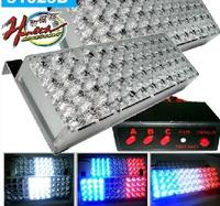 FREE SHIPPING 96 LED Car Flash Strobe Light 3 Flashing Modes Emergency Red + blue / White/