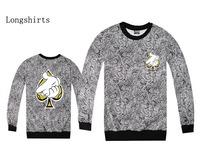 2014 Diamond Supply brand new mens diamond Crooks Castle Pullover sweater Skateboards hiphop sweatshirts