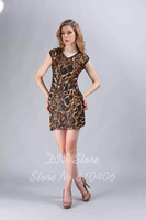 Sexy Tank Casual Gold Sequined Skater Dress Luxury Club Party Dresses Fashion Vestidos de festa Formal Dress For Women D-9043