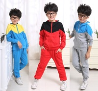2014 baby boys clothing sets Hot Sale chirldren autumn winter casual sports set Cotton&Polyester kids hooded