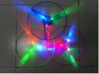 hot selling novelty Arrows flying saucer Luminous UFO large-sized frisbee Pull children flash toys Flashing frisbee wholesale