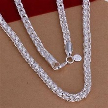 N083 925 sterling silver Necklace, 925 silver Pendant fashion jewelry  Twisted Ring Necklace /bwkaknra cicakzja