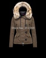 High Quality Fur Collars Hooded Women Down Jacket Brand Ladies Short Warm Winter Jacket Coats Black Brown Slim Lady Down Parkas