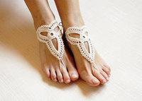 Crochet black barefoot sandals,Nude shoes, jewelry,Victorian Lace,Yoga shoes,Bridal anklet,beach accessories,black lace sandels