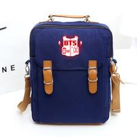 bts bangtan boys Hot BTS bulletproof Cadet Corps No. hand shoulder bag backpack shoulder bag dual-bts album bts poster
