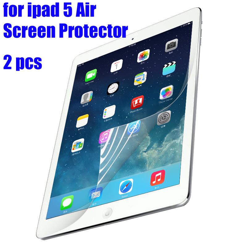 Hot sale 2 Pcs/Lot HD High Quality Screen Protector for ipad 5 Air LCD protective Screen Protector Film Cover(China (Mainland))