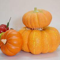 High artificial pumpkin fruit model fake vegetables model kitchen cabinet photography props decoration artificial pumpkin
