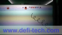 40 points touch  50 inch  interactive touch foil Film through glass window shop / side Tail