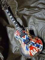 2011 03 NEW arrival custom  Electric Guitar British flag Aged-