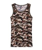 2014 Men O Neck Leopard Print Vest  Sleeveless T Shirt Men Casual Vests Plus Size M-2XL