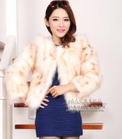 fourrure Fashion Haining raccoon fur fox fur short paragraph Korean version of the new women's winter coat 2014