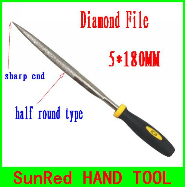SunRed BESTIR taiwan excellent quality 120mesh 5*180MM diamond file high quality for Gunsmith Crafts Mechanics Jewelers NO.07045(China (Mainland))