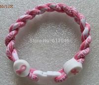 Wholesale Price -- Believe & Faith Hope Breast Cancer Awareness Bracelet  twist  bracelet Christmas Gift