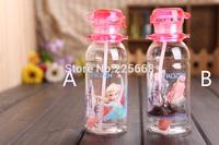 Free Shipping Cartoon Frozen Anna Elsa Olaf Drinkware Water Bottles Children cup Straw Type 400ml