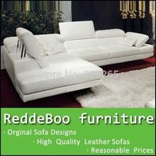 2014 nice modern white leather corner sofa set 3132#(China (Mainland))