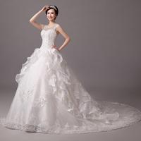 hot&sexy lace mermaid floor-length Wedding Dresses 2014 fashion lace up count bridal plus size vestidos de casamento 0004y hs