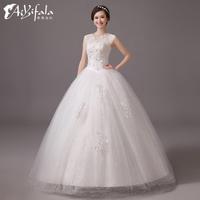Princess crystal tank sleeveless lace up white wedding dress 2014 fashion ball gown plus size vestidos para festa hs 0006.y