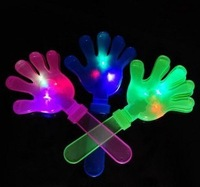 hot selling novelty good quanlity night-up toy Luminous hands clap clap for flash luminous hand performances supplies light shot