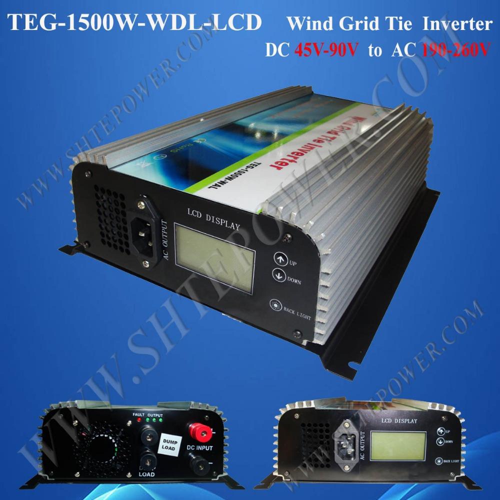 1.5kw wind power grid tie inverter dc 48v to ac 230v wind inverter grid tie wind(China (Mainland))