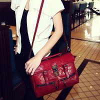 2014 Fashion vintage bag all-match one shoulder motorcycle bag female bags  Women's Handbag  Cross Body Bag